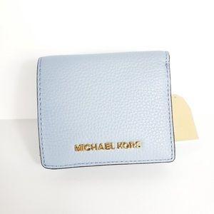 Michael Kors Jet Set Wallet Light Pale Blue NEW
